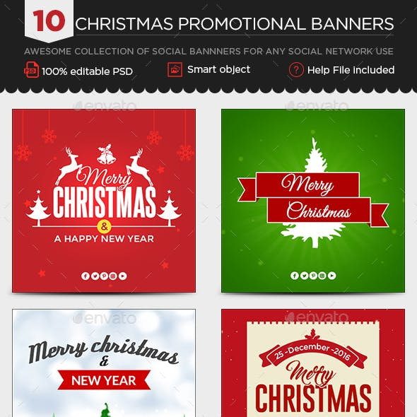 Christmas Instagram Templates - 10 Designs - Images Included