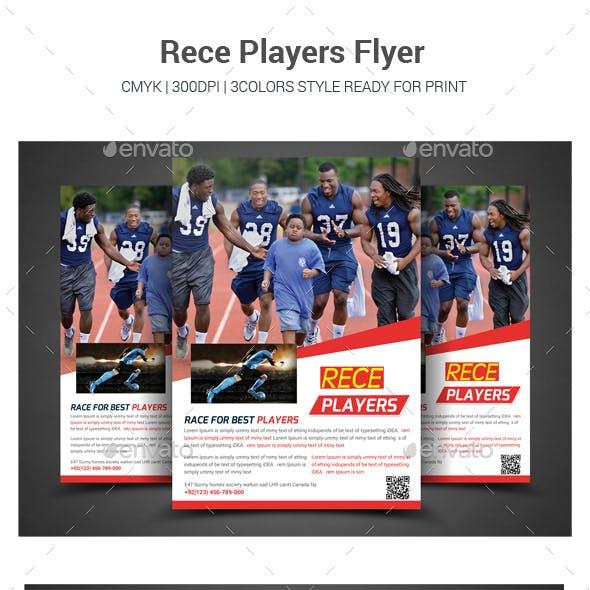 Run Players Flyer