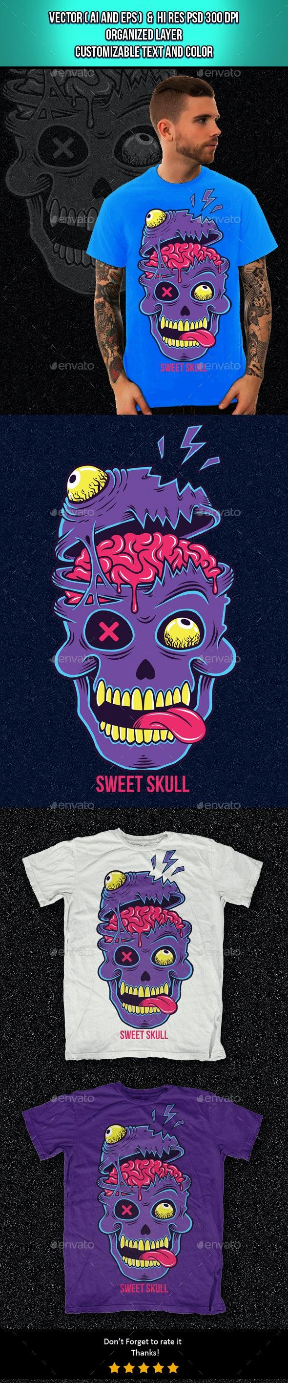 Sweet Skull 2 - Designs T-Shirts