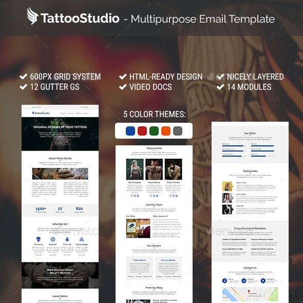 TattooStudio - Multipurpose Email Template