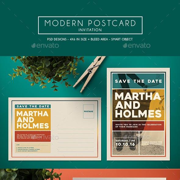 Modern Postcard Invitation