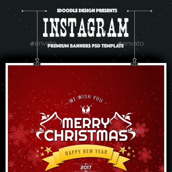 NewsFeed Merry Christmas Banners Ad - 16 PSD [02 Size Each]