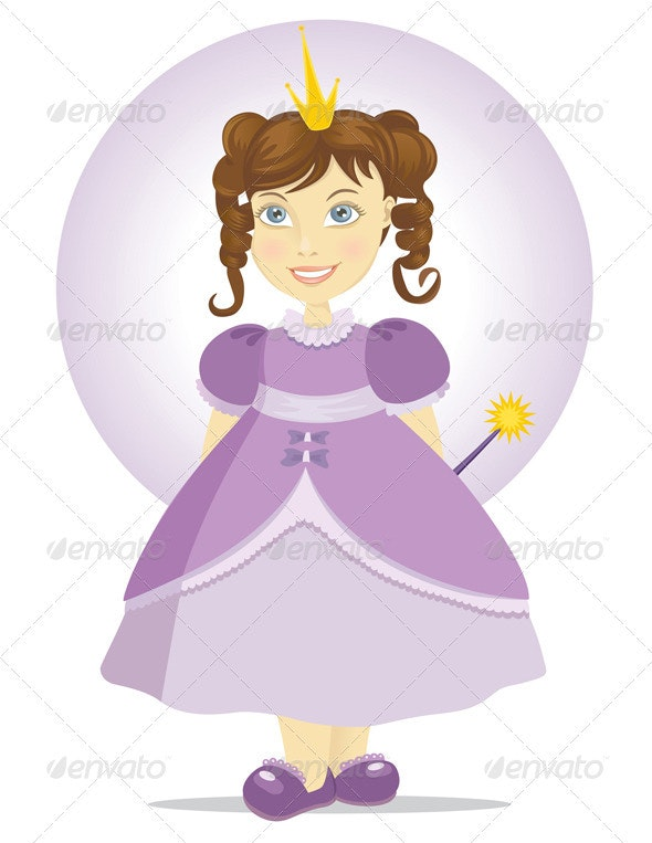 Fairy Princess With A Magic Wand - People Characters