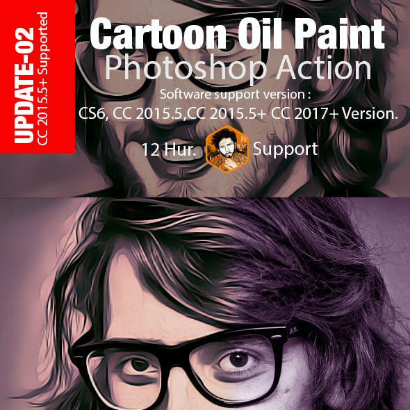 Cartoon Oil Paint