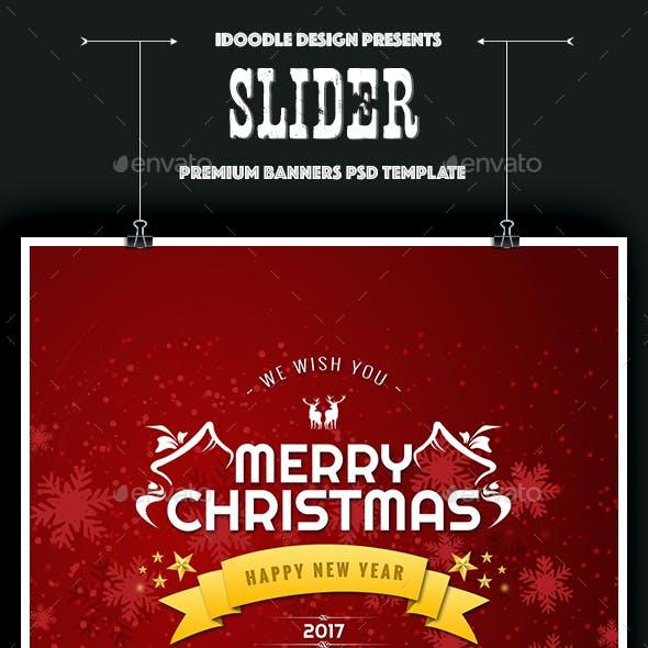 Sliders Header Christmas - 08 PSD