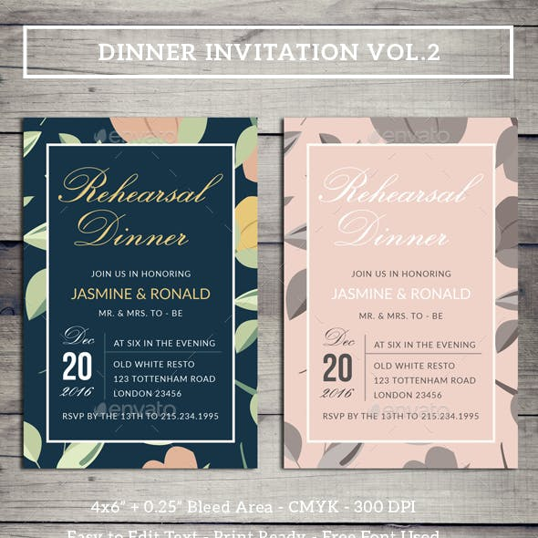 Dinner Invitation Vol.2