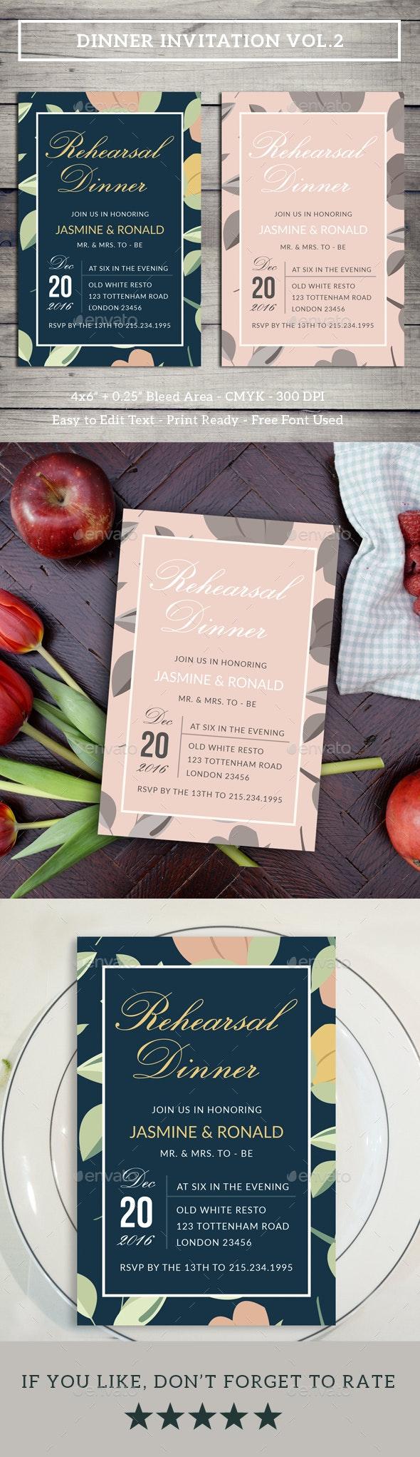 Dinner Invitation Vol.2 - Invitations Cards & Invites