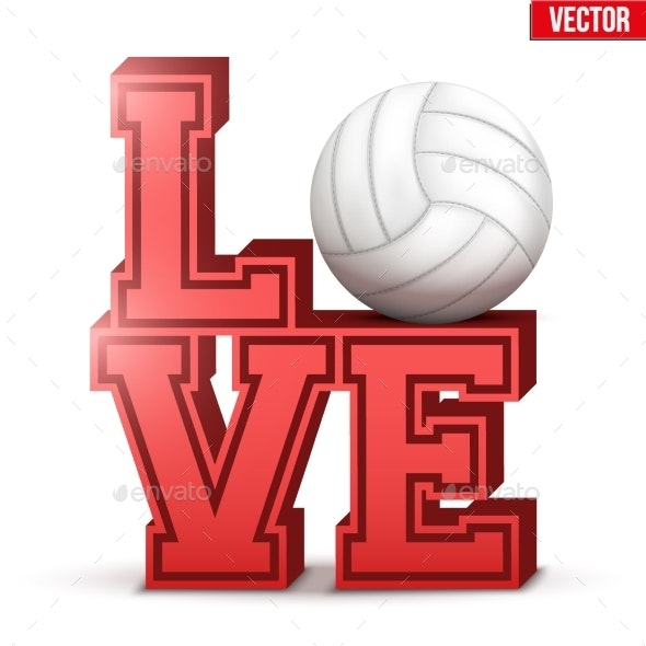 Love Volleyball Inscription - Computers Technology