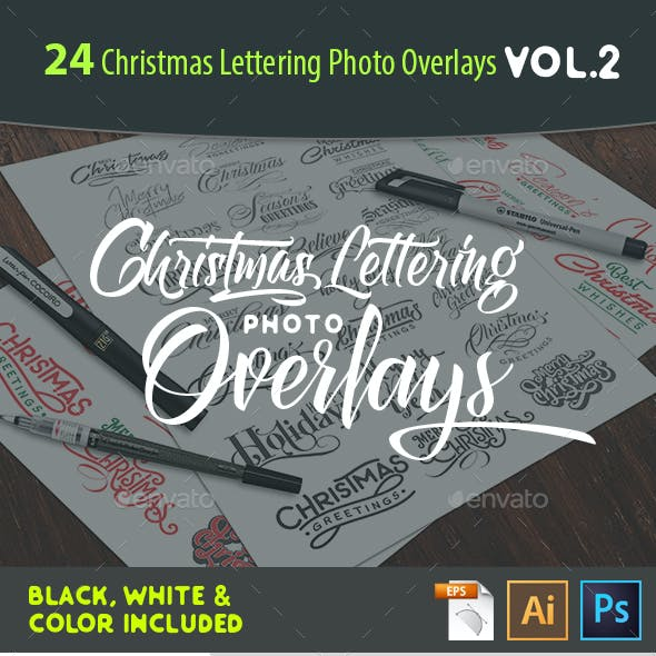 24 Christmas Photo Overlays Vol.2
