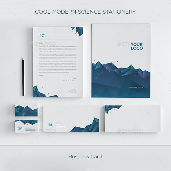 Cool Modern Science Stationary