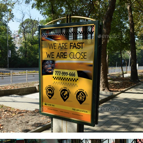 Taxi Services Poster Template 18