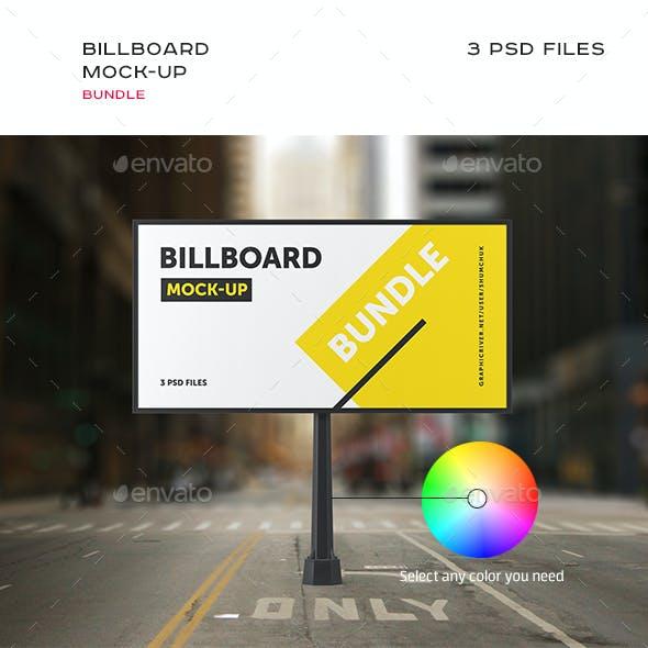 Studio Billboard Mock-up Bundle