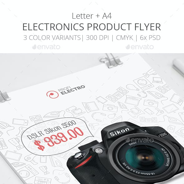 Product Flyer Template - Electronics