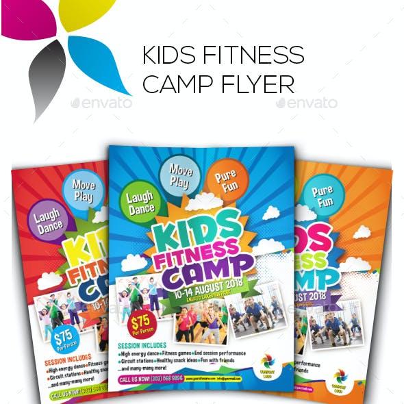 Kids Fitness Camp Flyer