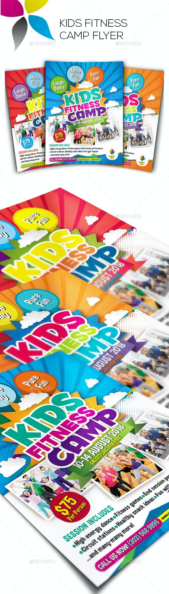 Kids Fitness Camp Flyer - Corporate Flyers