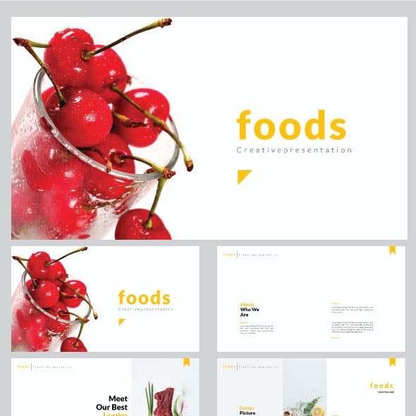 Foods - Creative Keynote Template