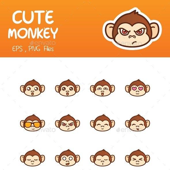 Cute Monkey Emoticon