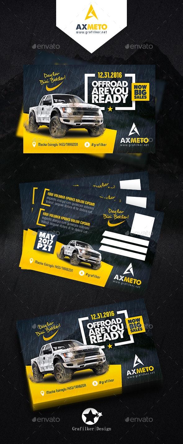 Off-Road Adventure Postcard Templates - Cards & Invites Print Templates