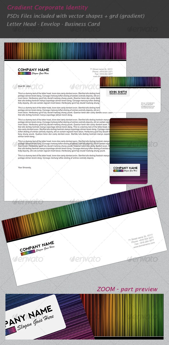 Gradient Corporate Identity - Miscellaneous Print Templates