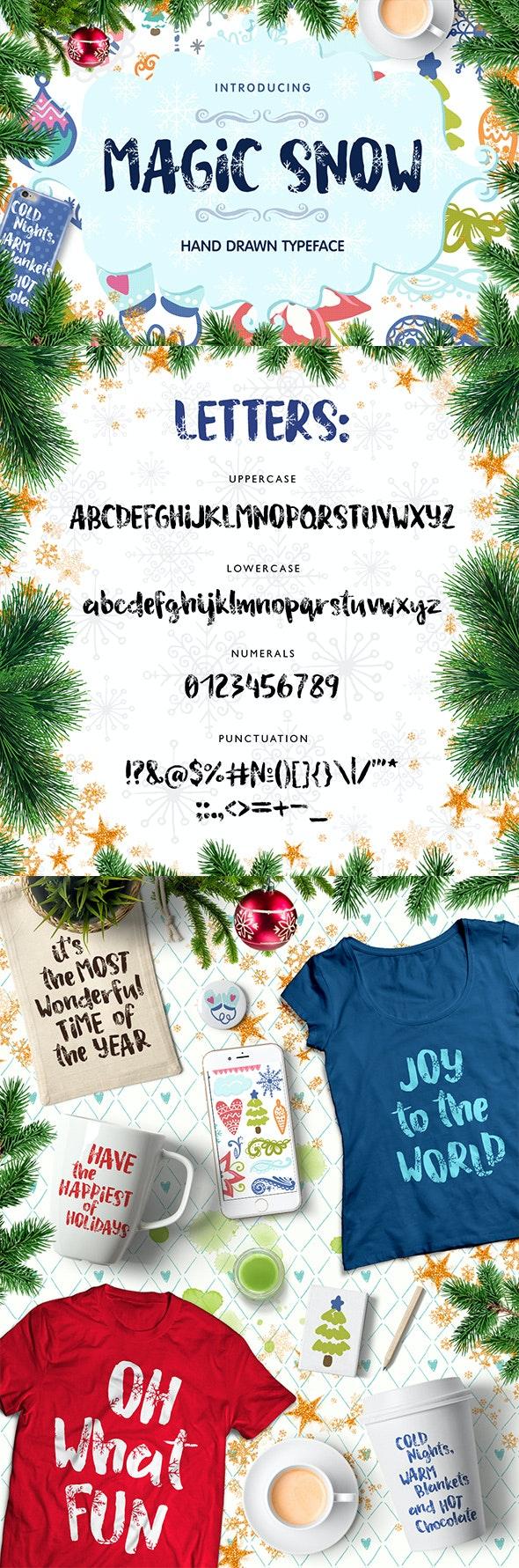 Magic Snow - Christmas Typefase - Handwriting Fonts