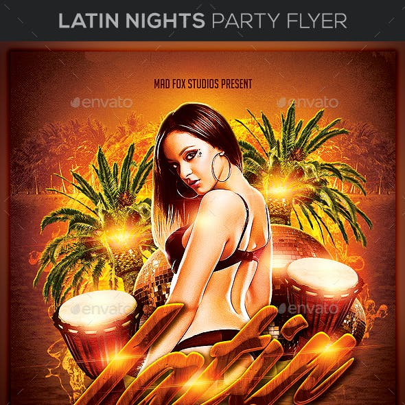 Latin Nights Party Flyer