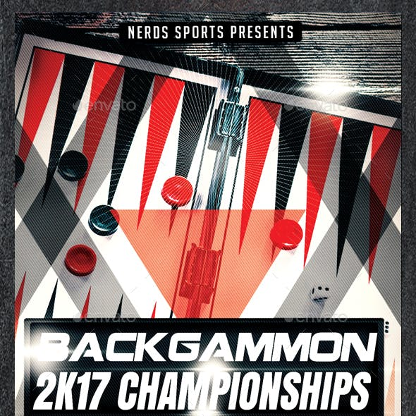 Backgammon 2K17 Championships Sports Flyer