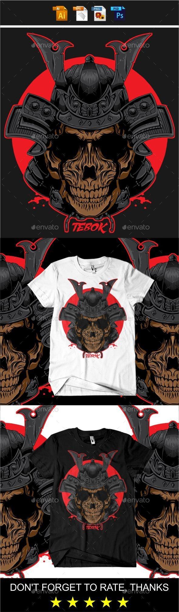 Samurai T-shirt design - Grunge Designs