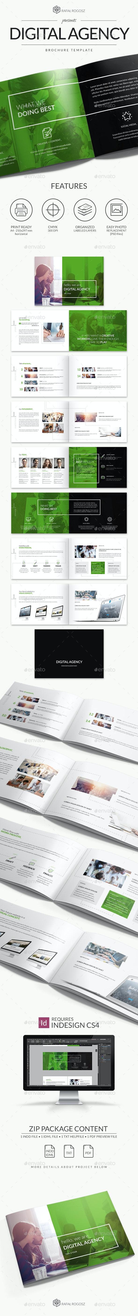 Digital Agency Bochure - Brochures Print Templates