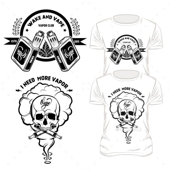 Vape T-Shirt Designs Set
