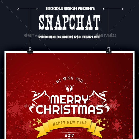 Merry Christmas Geofilters Snapchat - 10 PSD