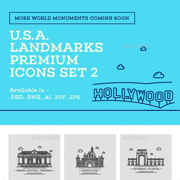 World Landmark Icons - Vol. 5 (U.S.A. Set 2)