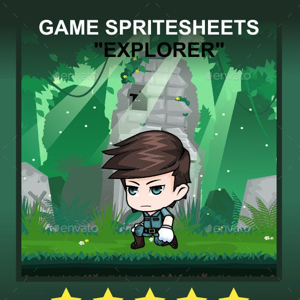 The Explorer Sprite Character