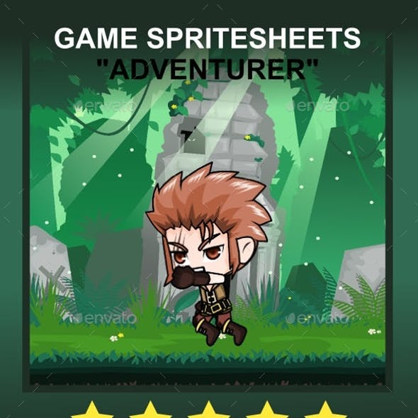 The Adventurer Sprite Character