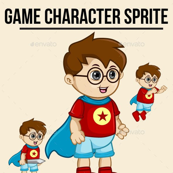 Little Boy Superhero Sprite Character