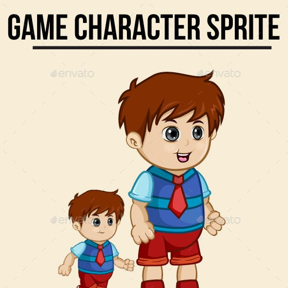 Little Boy #2 Sprite Character