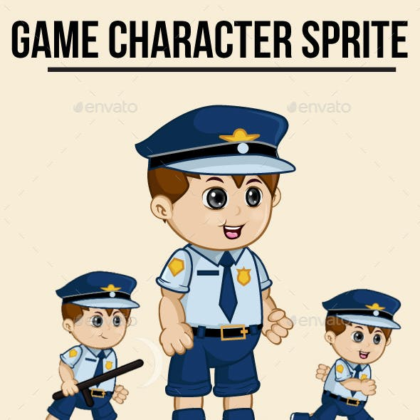 Policeman Sprite Character