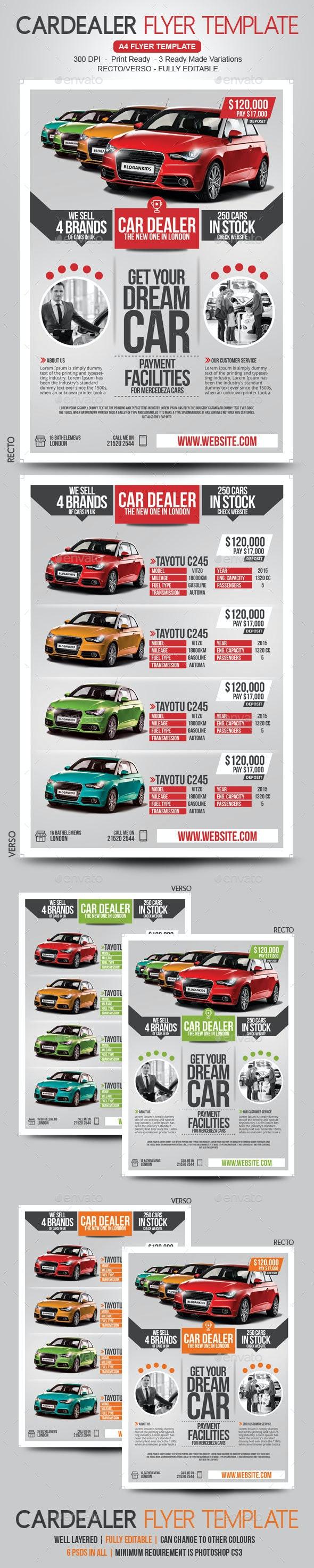 Car Flyer Recto / Verso - Commerce Flyers