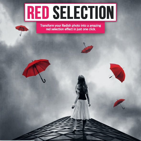 Red Selection Ps Action