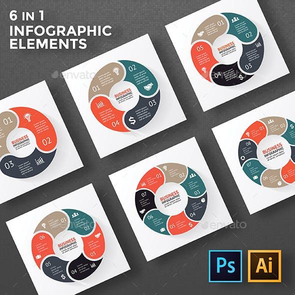 Circle Diagrams Infographics. PSD, EPS, AI.