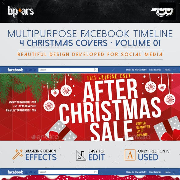 Christmas Sales Facebook Covers | volume I