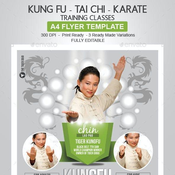 Kung Fu - Tai Chi - Karate Flyer Template