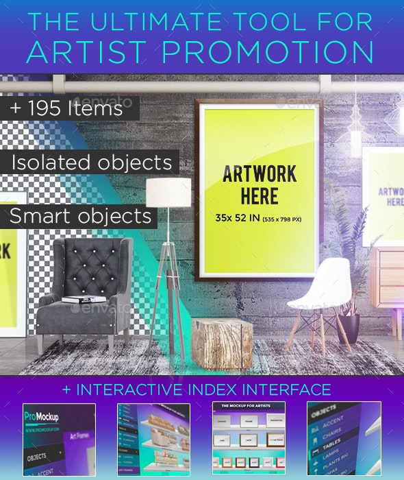 Pro Mockup - Art Scene Creator - Posters Print