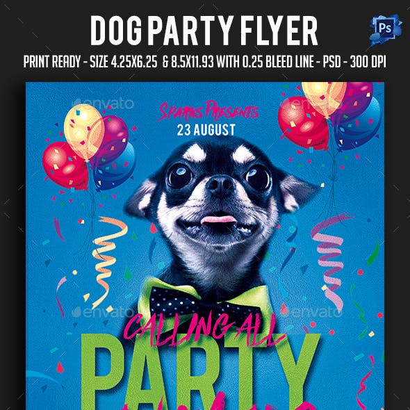 Dog Party Flyer