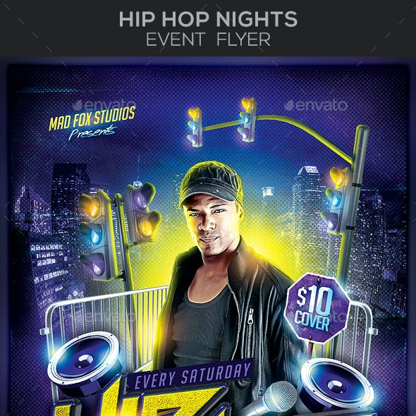 Hip Hop Nights Party Flyer