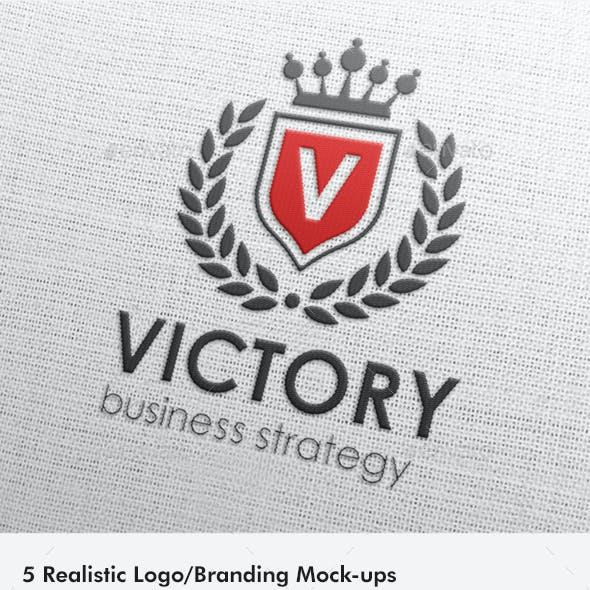 5 Realistic Logo/Branding Mock-ups - Layered PSD's