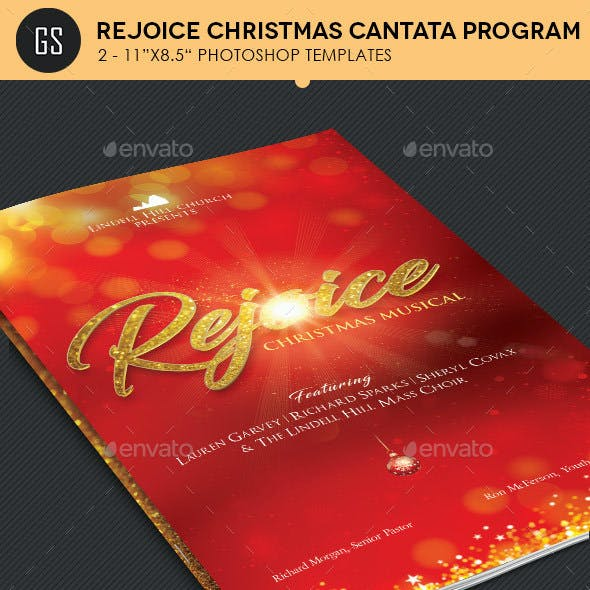Rejoice Christmas Cantata Program Template