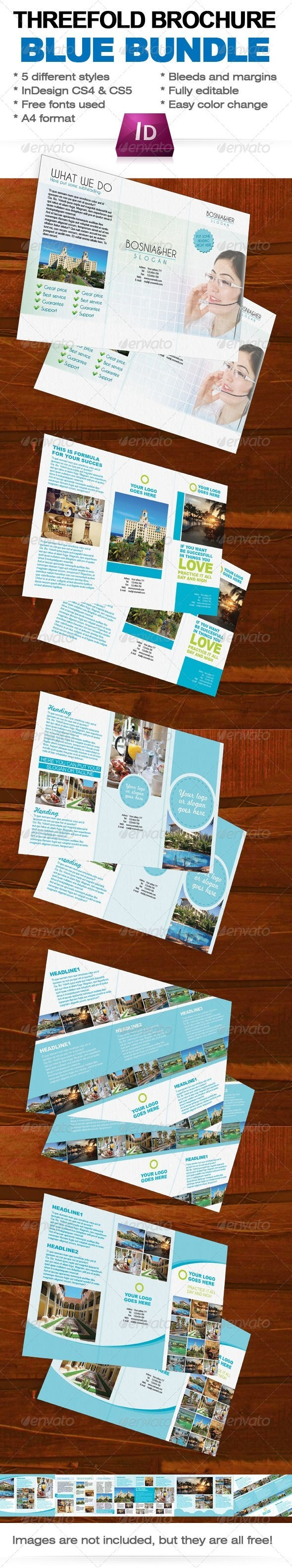 Three Fold Brochure Bundle InDesign Template - Corporate Brochures