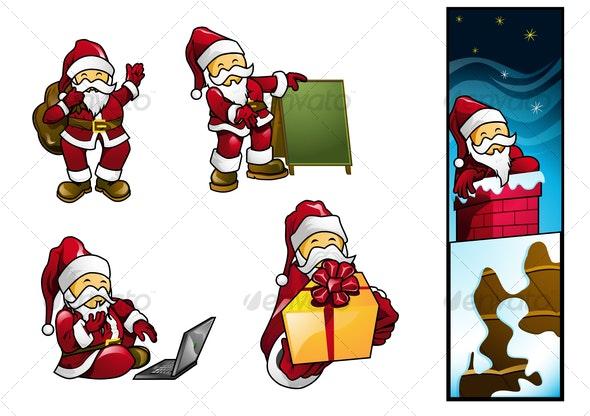 Santa HoHoHo Vector - Christmas Seasons/Holidays