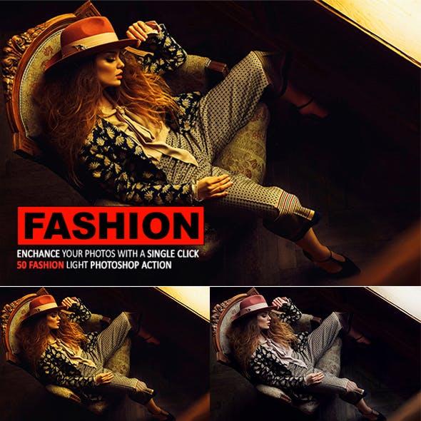 50 Fashion Light Photoshop Action