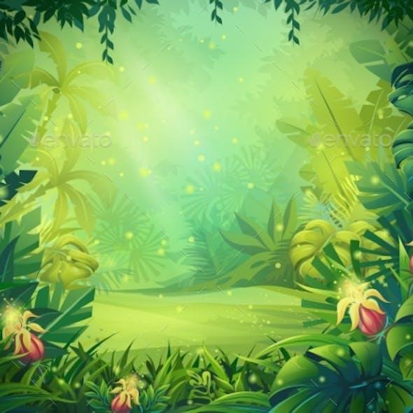 Vector Cartoon Illustration of Background Morning